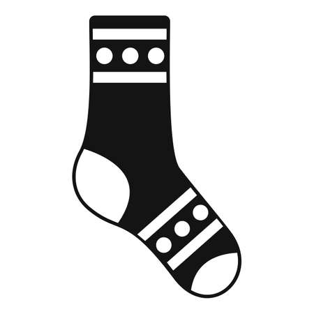 Sport sock icon simple vector. Winter collection Vektorové ilustrace