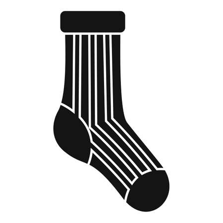 Casual sock icon simple vector. Wool collection