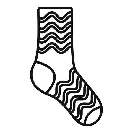 Kid sock icon outline vector. Casual item