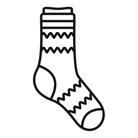 High sock icon outline vector. Sport collection
