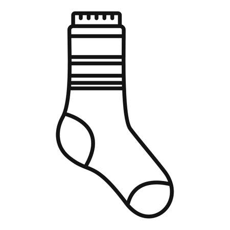 Stylish sock icon outline vector. Winter collection