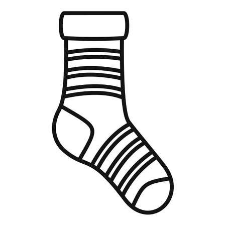 Ankle sock icon outline vector. Sport ankle sock Vektorové ilustrace
