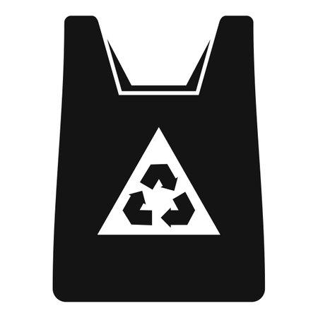 Eco bag icon simple vector. Handle bag Ilustração