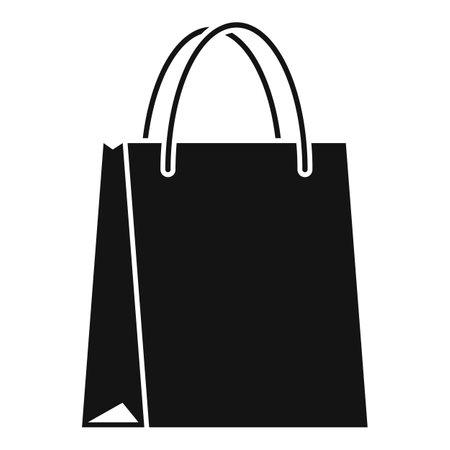 Paper eco bag icon simple vector. Fabric handle Ilustração