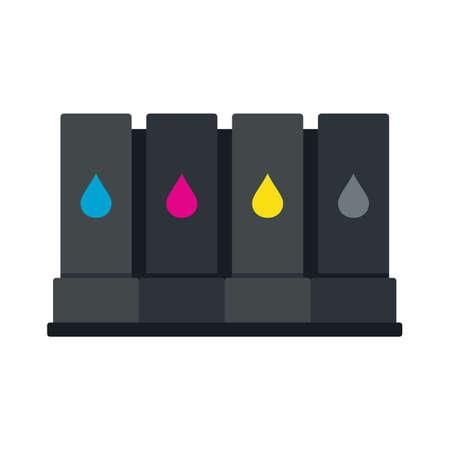Printer cartridge icon flat isolated vector Vektoros illusztráció