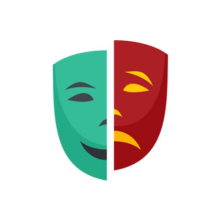 Personality disorder icon flat isolated vector