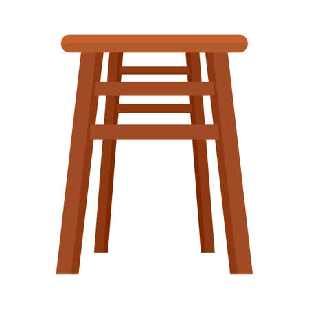 Backless chair icon flat isolated vector Иллюстрация