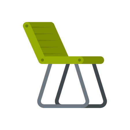 Fishing chair icon flat isolated vector