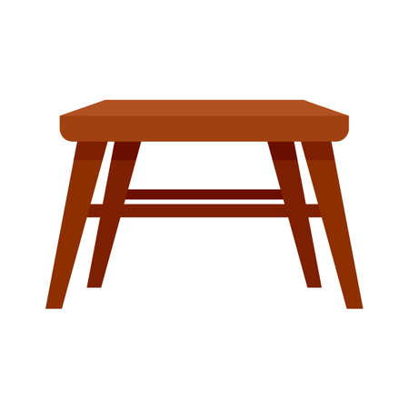 Outdoor garden furniture icon flat isolated vector