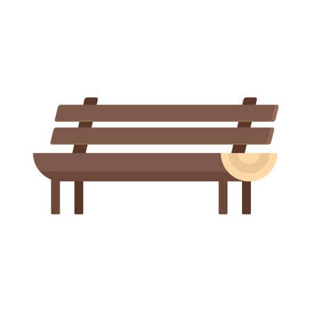 Garden bench icon flat isolated vector Иллюстрация