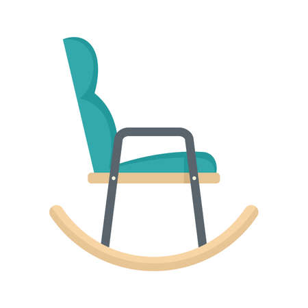 Soft rocking chair icon flat isolated vector Иллюстрация