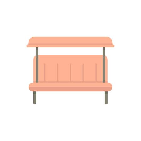 Soft rocking bench icon flat isolated vector Иллюстрация