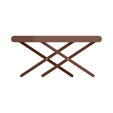 Portable outdoor table icon flat isolated vector