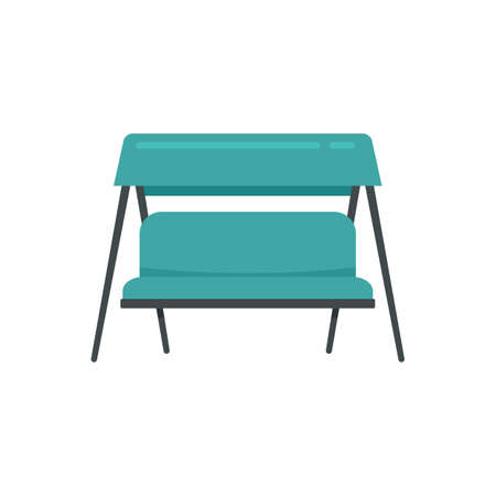 Swing textile chair icon. Flat illustration of swing textile chair vector icon isolated on white background Иллюстрация