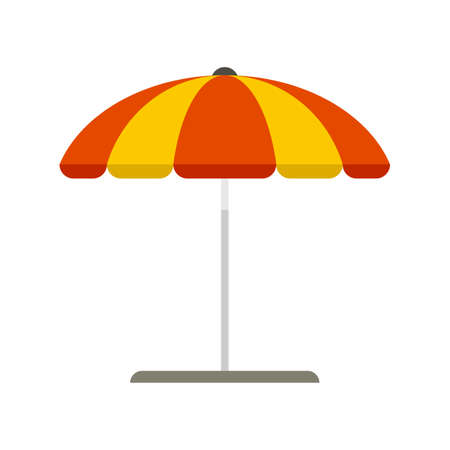 Beach umbrella icon flat isolated vector