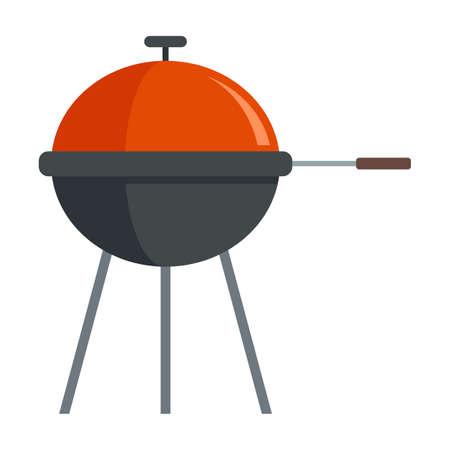 Home bbq equipment icon flat isolated vector Иллюстрация