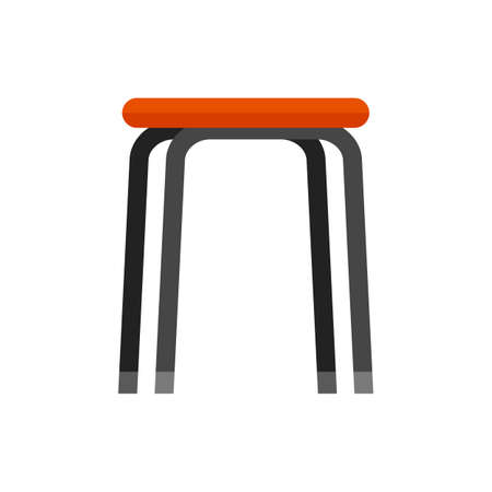 Stool icon flat isolated vector