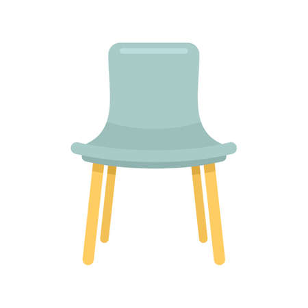Summer outdoor chair icon flat isolated vector