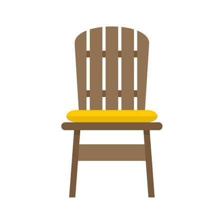 Comfortable outdoor chair icon flat isolated vector