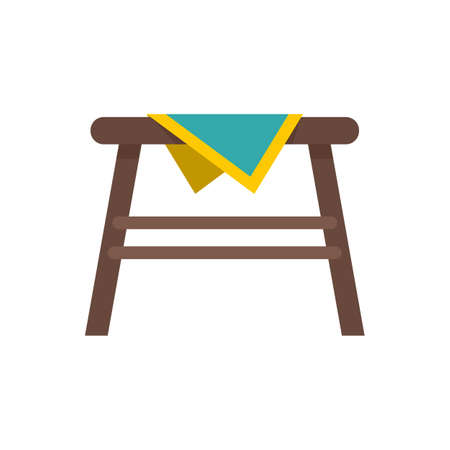 Kitchen outdoor table icon flat isolated vector