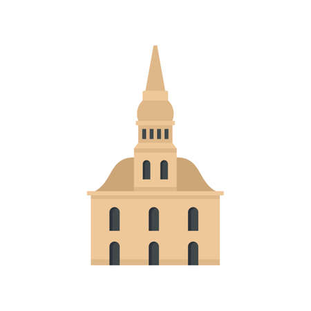 Architecture Riga building icon flat isolated vector