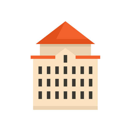 Riga big house icon flat isolated vector