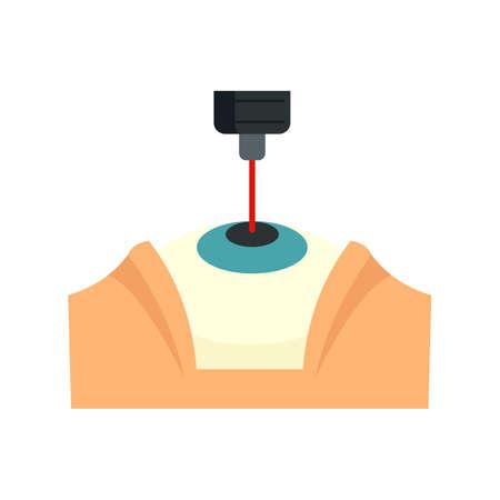 Laser eye examination icon. Flat illustration of laser eye examination vector icon isolated on white background
