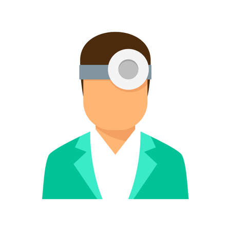 Ophthalmologist icon flat isolated vector Иллюстрация
