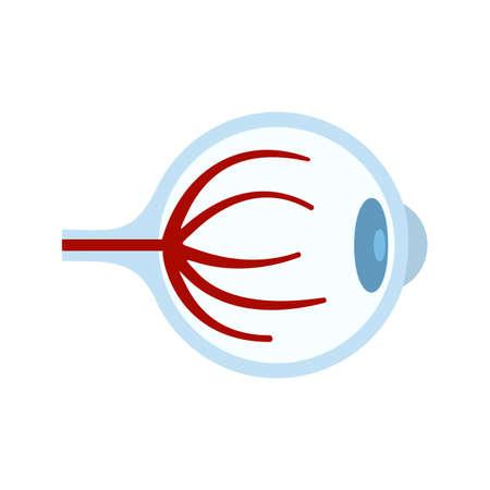 Tired eyeball icon flat isolated vector Иллюстрация