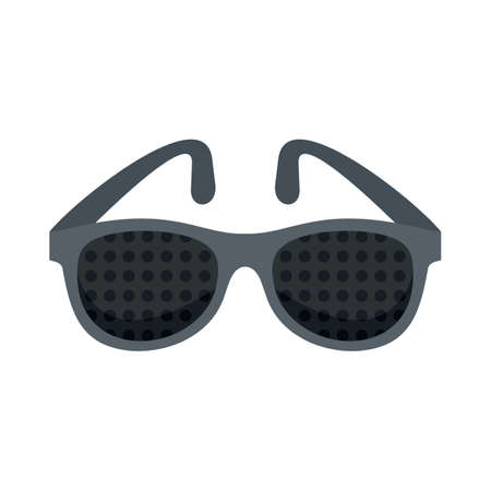 Examination control eyeglasses icon flat isolated vector