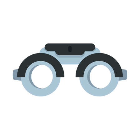 Eye examination steel glasses icon. Flat illustration of eye examination steel glasses vector icon isolated on white background Иллюстрация