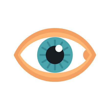 Healthy human eye icon flat isolated vector
