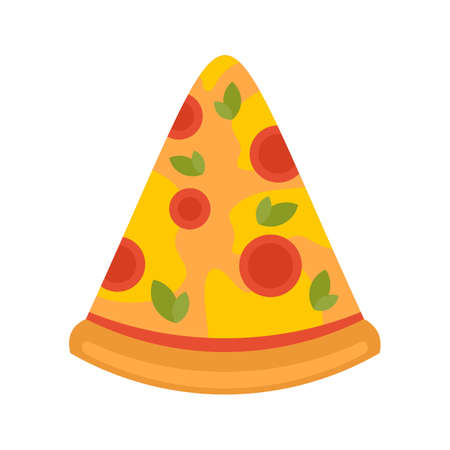 Home pizza slice icon flat isolated vector Иллюстрация