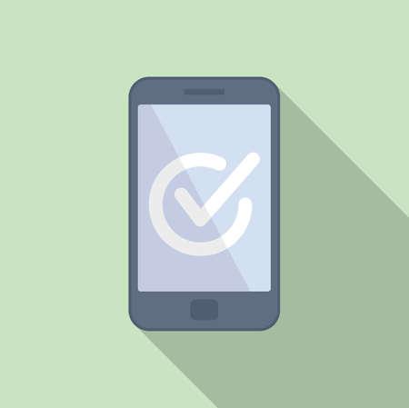 Quality smartphone icon flat vector. Phone app