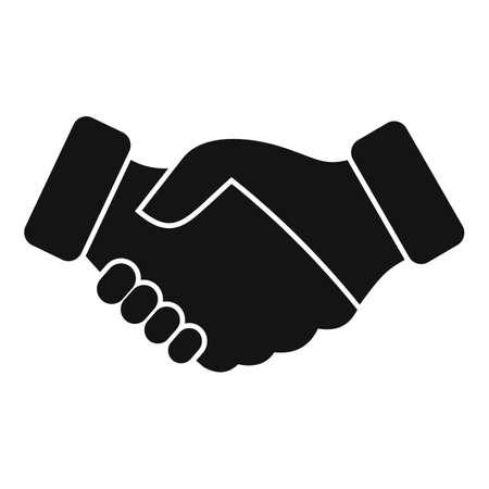 Reliability handshake icon simple vector. Trust integrity