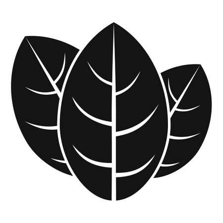 Cooking basil icon simple vector. Herb leaf Ilustracje wektorowe