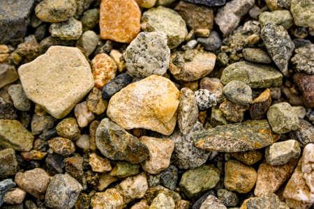 sand quarry: Granite rubble background texture. Granite rubble top view Stock Photo