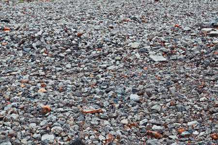 Background of gray granite gravel close-up Stock Photo