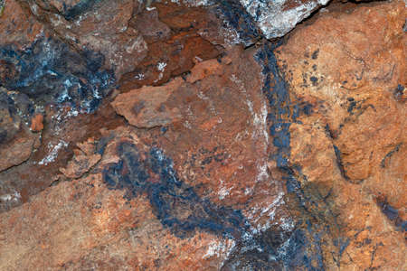 Natural texture of hematites of the Ural Mountains. Close-up.