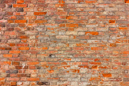 red brick wall texture grunge background.