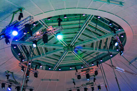 Stage lights. Concert light. Under the dome of the circus. Reklamní fotografie