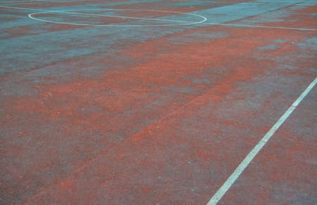 White lines marking. Artificial sports field with white lines markings close-up. Stok Fotoğraf