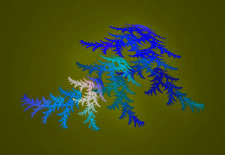 Abstract artificial computer generated iterative flame fractal image.