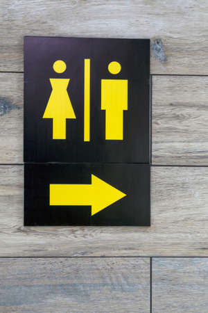 Toilet sign. Signage indicating location or toilet position for men and women.