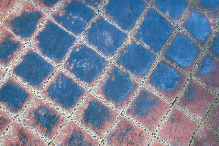 Rusty iron. The texture of the old rusty metal sheet. Closeup. 免版税图像