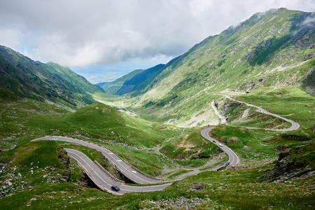 Transfagarasan highway, probably the most beautiful road in the world, Europe, Romania Transfagarashan Stock Photo