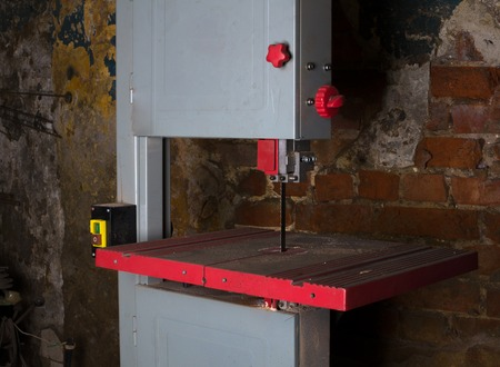 milling center: Machine for cut metall in smith. Industrial background.