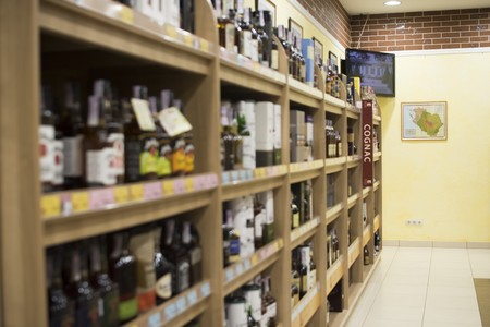 shelfs in wine shop 3