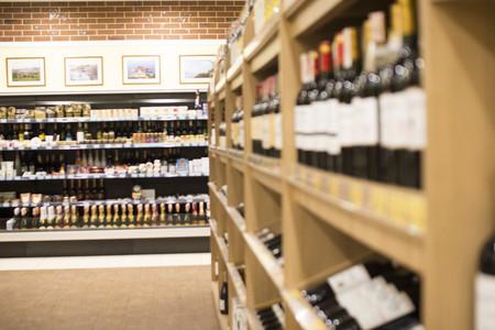 shelfs in wine shop 2