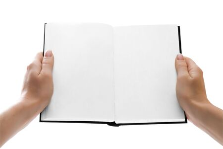 Woman hands holding an open book or giving it to anyone. Stock Photo - 3283760